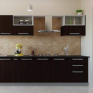 Straight Kitchen Interior design
